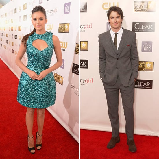Nina Dobrev and Ian Somerhalder Arrive at Critics' Choice Awards Separately