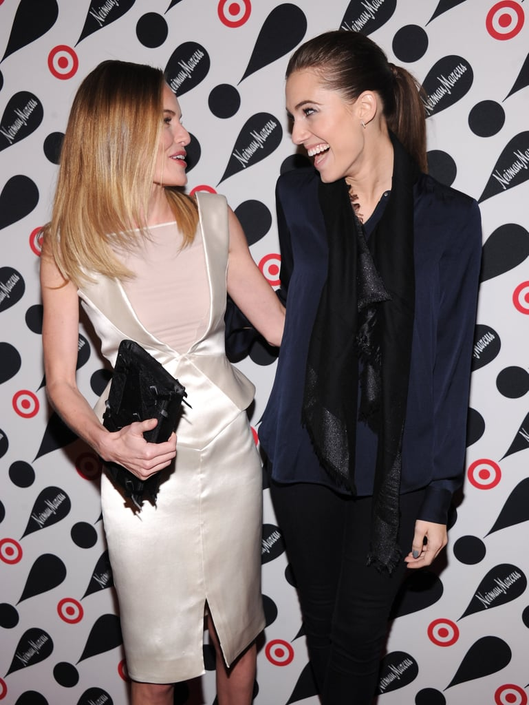 Kate Bosworth and Allison Williams laughed together.