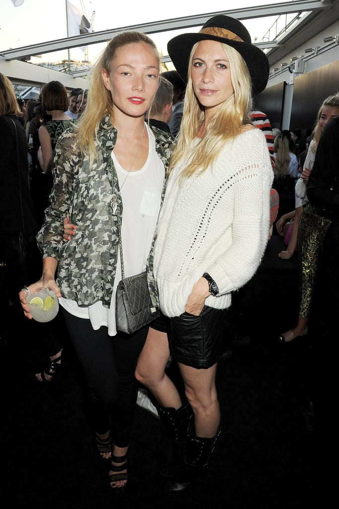 Clara Paget and Poppy Delevingne
