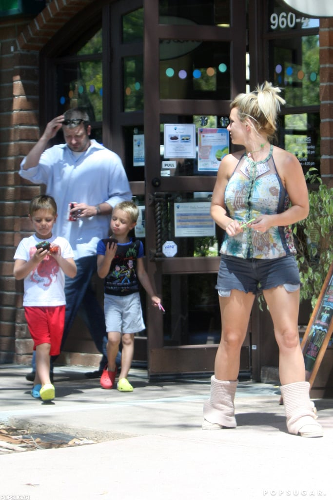 Britney Spears and her boys were spotted in Santa Barbara.