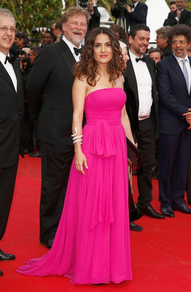 Salma Hayek Pinault at the Saint Laurent Premiere
