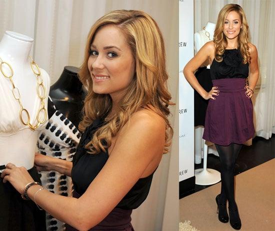 Lauren Conrad promotes her new line at Holt Renfrew in High Waisted Skirt