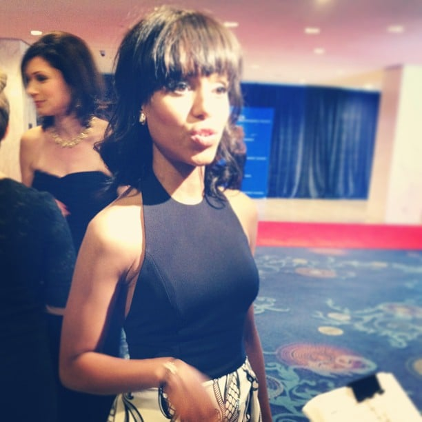 Kerry Washington said she was excited to mingle with accomplished people from both politics and the entertainment industry when we chatted with her on the red carpet.