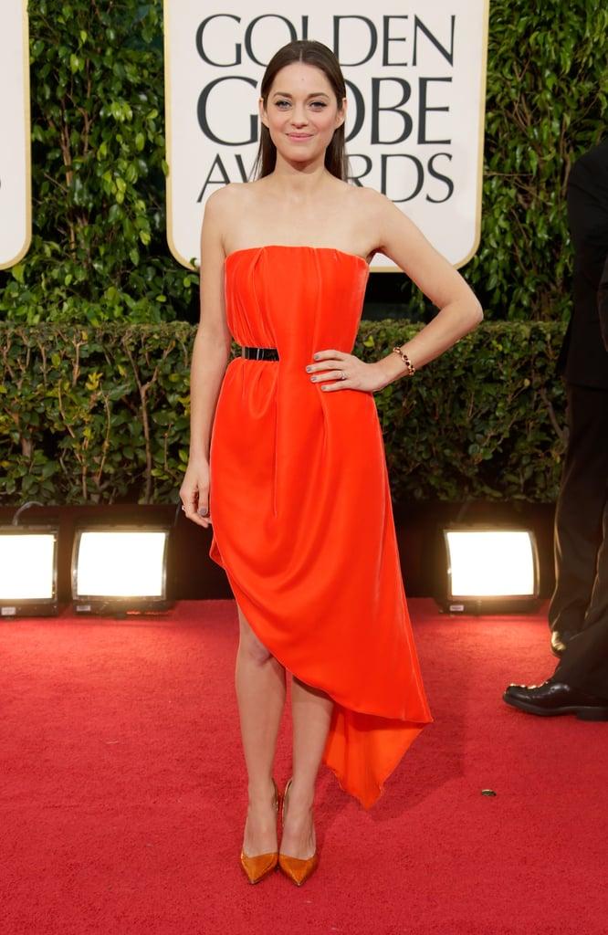 Marion Cotillard in Red Dior Dress