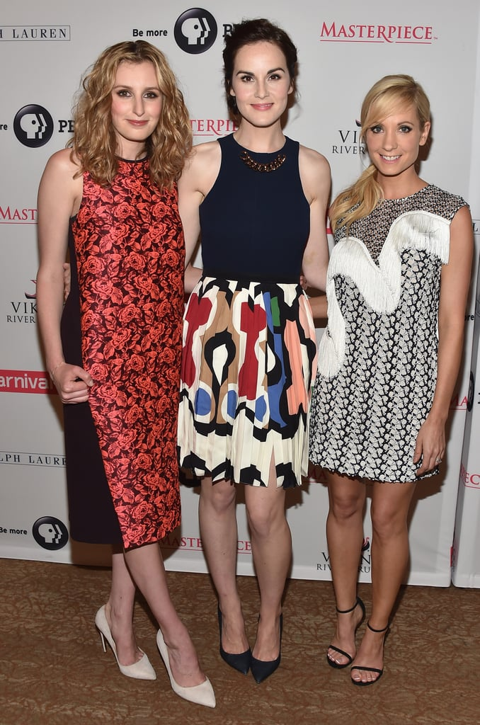 Downton Abbey's Laura Carmichael, Michelle Dockery, and Joanne Froggatt smiled at the 2014 Summer TCA tour in LA on Tuesday.