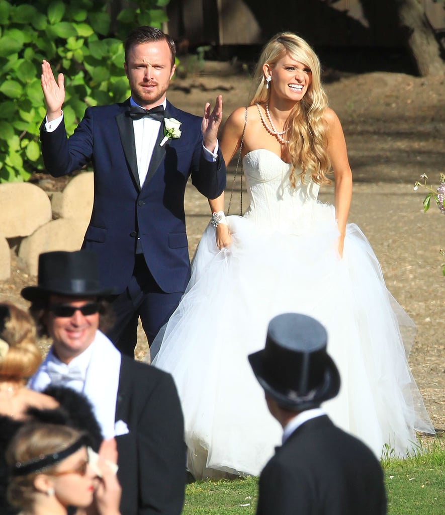 Aaron Paul got married to Lauren Parsekian in Malibu, CA.