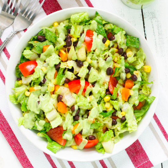 Black Bean Salad With Avocado Dressing Recipe