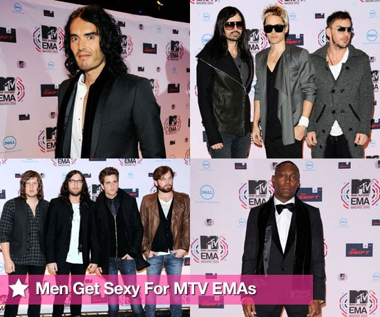 Red Carpet at MTV EMAs 2010 including Russell Brand, Dizzee Rascal, 30 Seconds to Mars, Kings of Leon