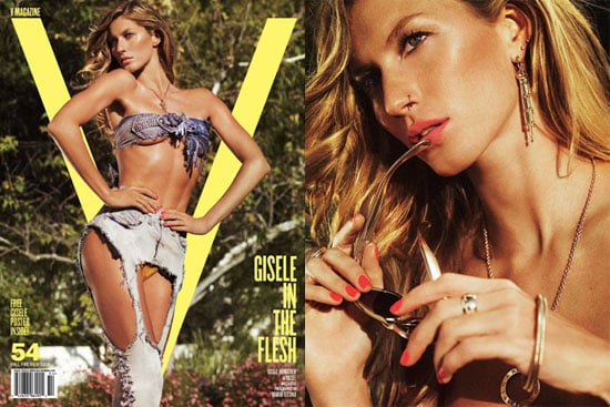 Photos of Gisele Bundchen for V Magazine Fall 2008