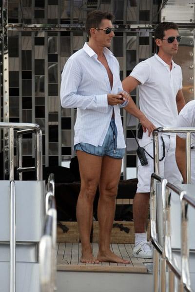 May 22: Stefano Gabbana on his yacht, Regina D'Italia