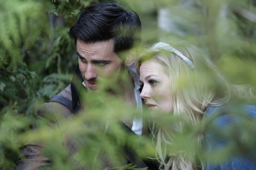 Hook (Colin O'Donoghue) and Emma (Jennifer Morrison) on the season-three finale of Once Upon a Time.