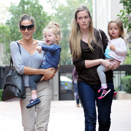Sarah Jessica Parker Takes Loretta & Tabitha to School Pictures