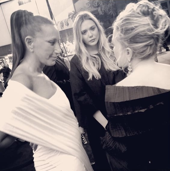 Donna Karan, Lizzie Olsen, and Mary-Kate — who more could you want?  Source: Instagram user bfa_nyc