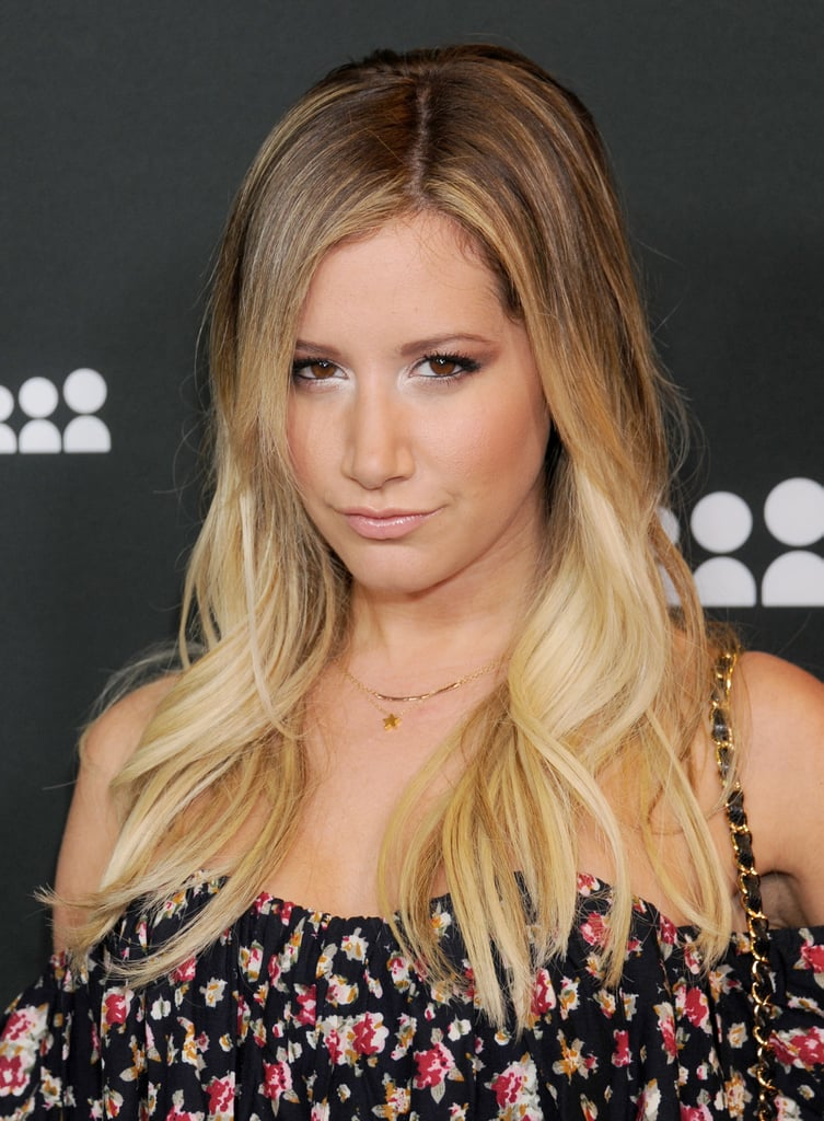 A sexy white shadow, a hot trend for Summer, brought attention to Ashley Tisdale's beautiful eyes.