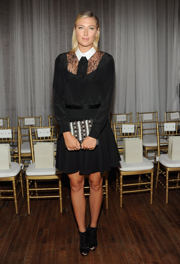 Maria Sharapova wore a head-to-toe Jason Wu look for the designer's show on Friday.