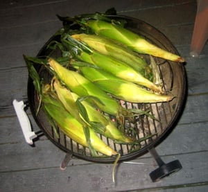 Healthy BBQ:  Grilled Corn