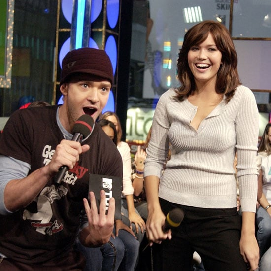 Justin Timberlake joked around with Mandy Moore on an episode of TRL in October 2003.