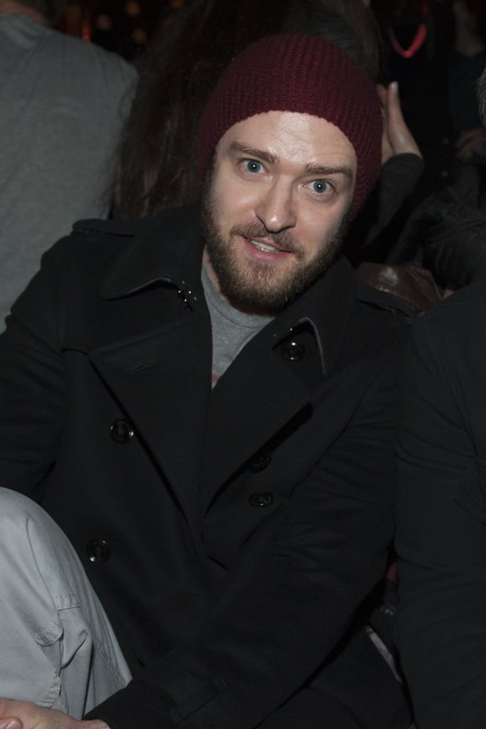 Justin Timberlake attended the NYFW Guns N' Roses show.