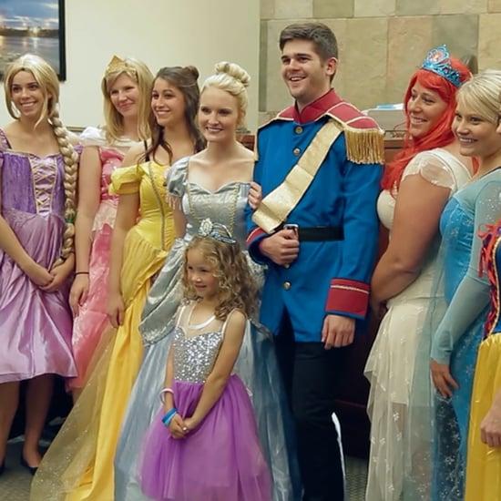 Disney Princesses at Girl's Adoption Hearing
