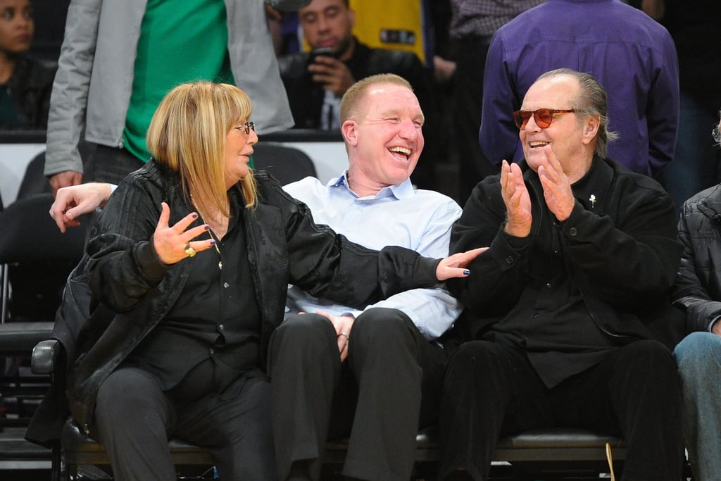Die-hard Laker fan Jack Nicholson cheered the players on with Penny Marshall and Chris Mullin.