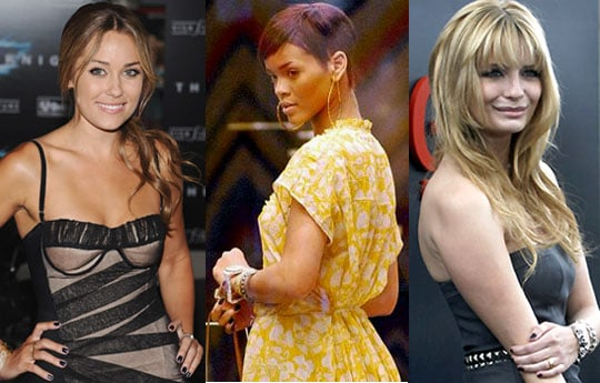 Black Nail Polish, Mischa Barton, Rihanna, Lauren Conrad