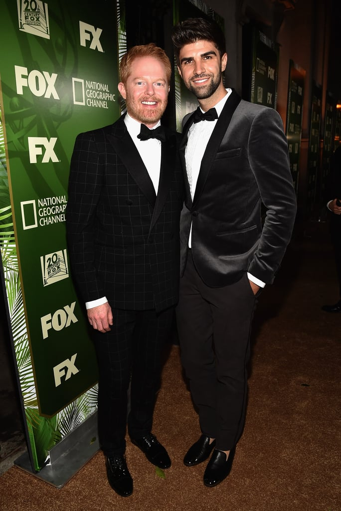 Jesse Tyler Ferguson was all smiles with his husband, Justin Mikita, at the Fox/FX event.