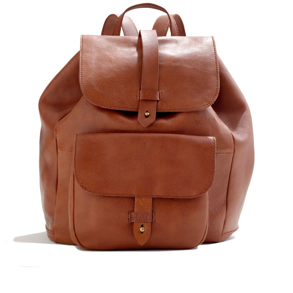 Madewell The Transport Brown Leather Backpack ($248)