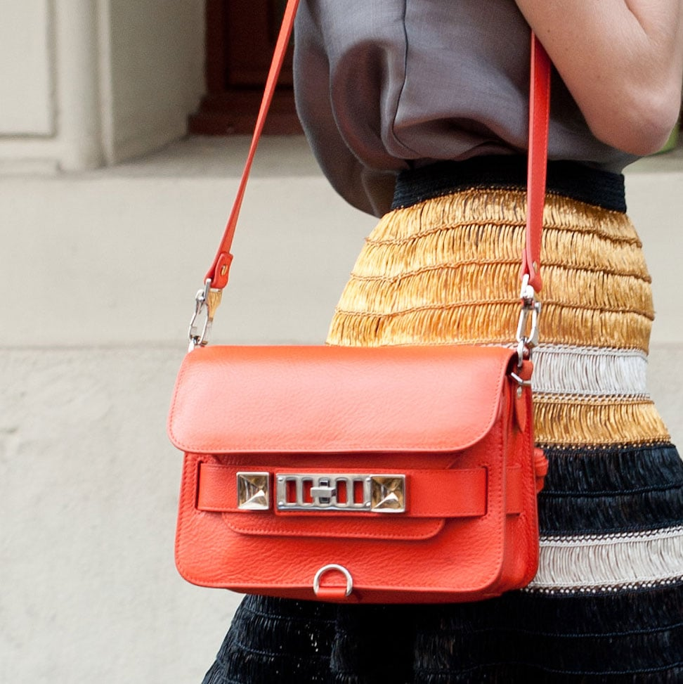 This fiery-red Proenza is quite literally like the cherry on top of this look.