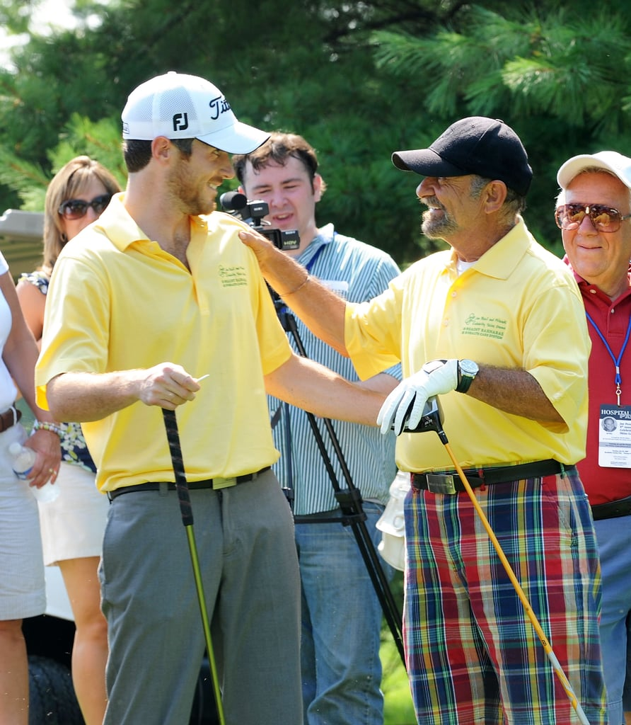 Dave Annable and Joe Pesci matched their golf gear at the July 2009 Joe Pesci Celebrity Skins Game in New Jersey.