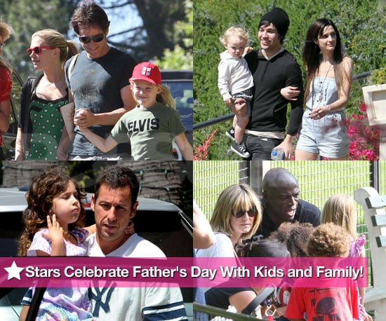 Pictures of Celebrities Marking Father's Day With Family