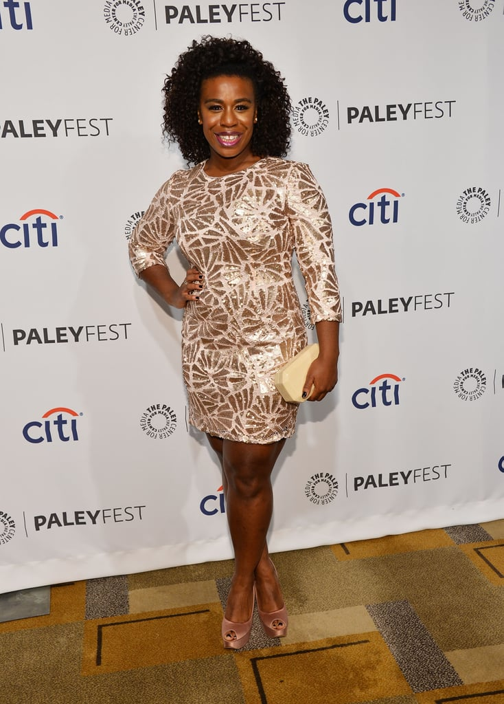 Uzo Aduba struck a pose before the Orange Is the New Black panel.