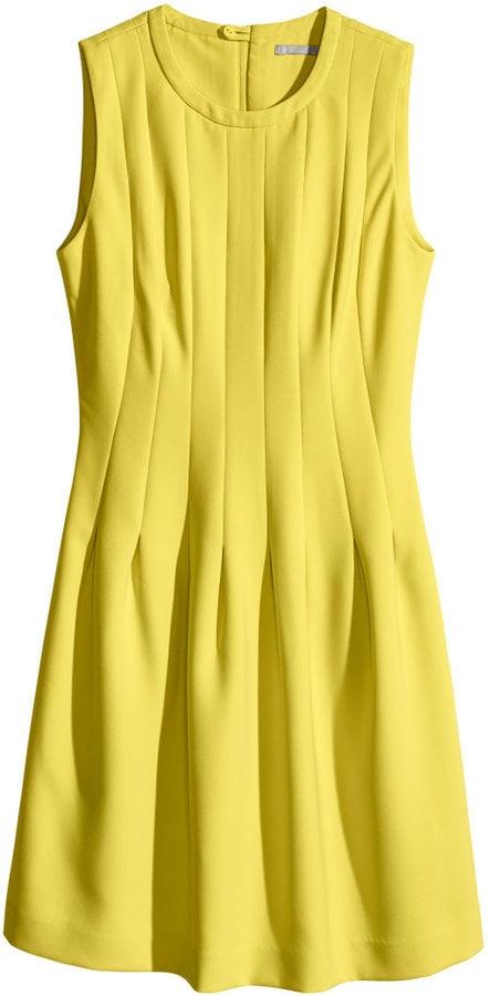 H&M Sleeveless Yellow Dress ($40)
