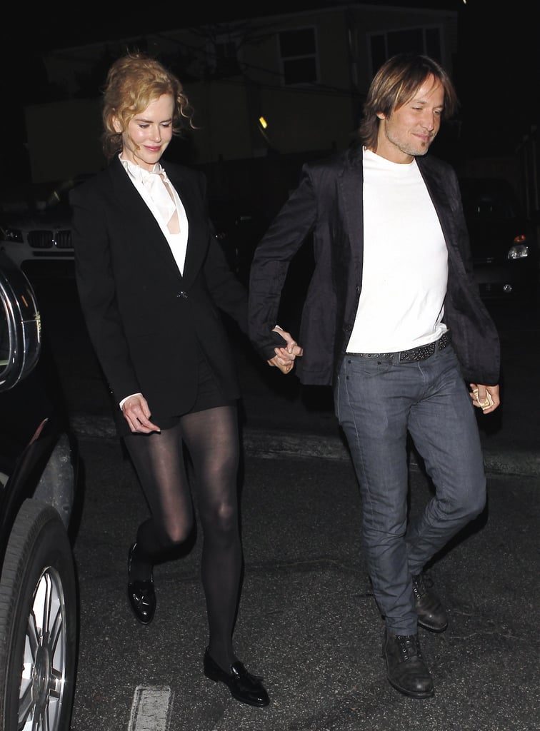 Keith Urban and Nicole Kidman grabbed dinner in LA.