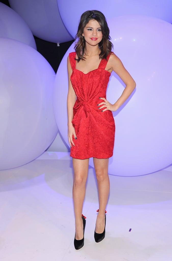 Selena looked striking in an LRD from Dolce & Gabbana at a Disney event in 2011.