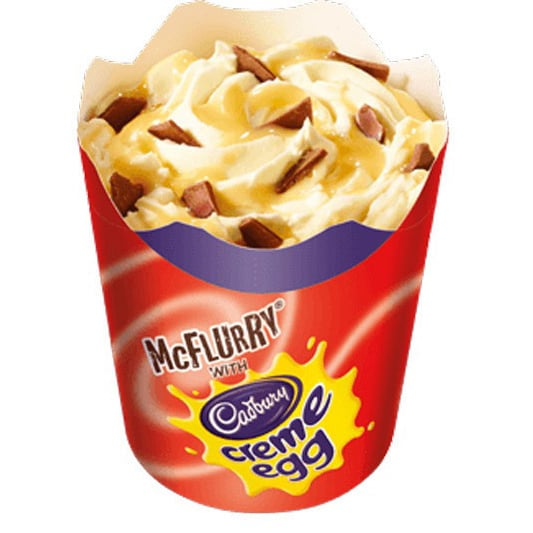 McDonald's Cadbury Creme Egg McFlurry