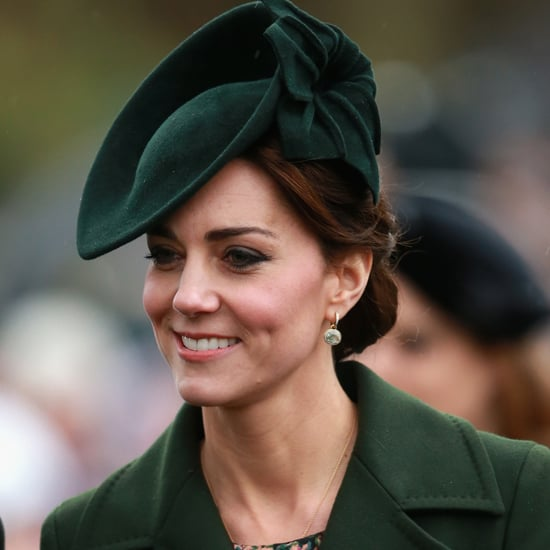 Kate Middleton Wearing a Green Coat and Hat