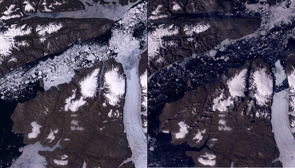 Petermann Glacier Melt, Greenland