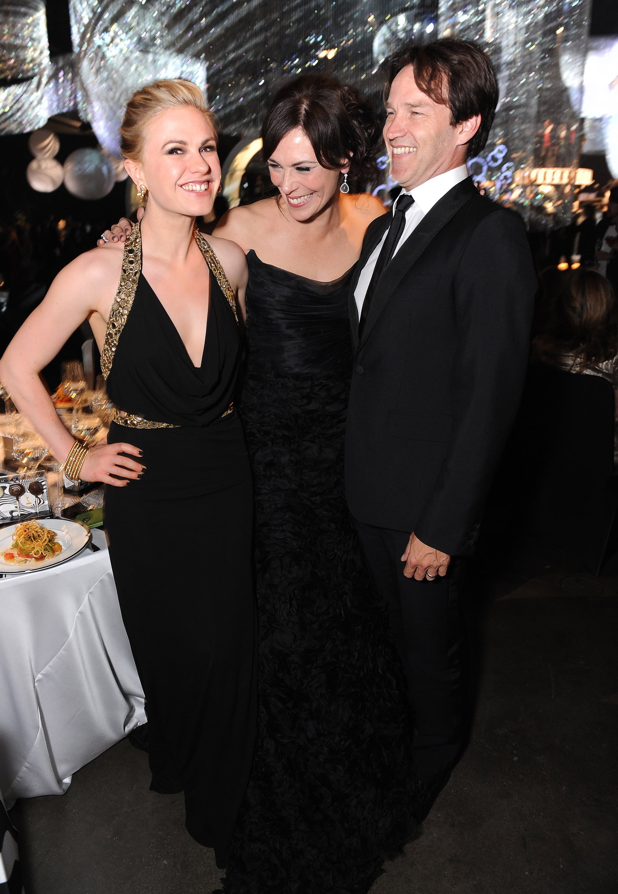Anna Paquin, Stephen Moyer, and Michelle Forbes at the Emmy's Governor's Ball.