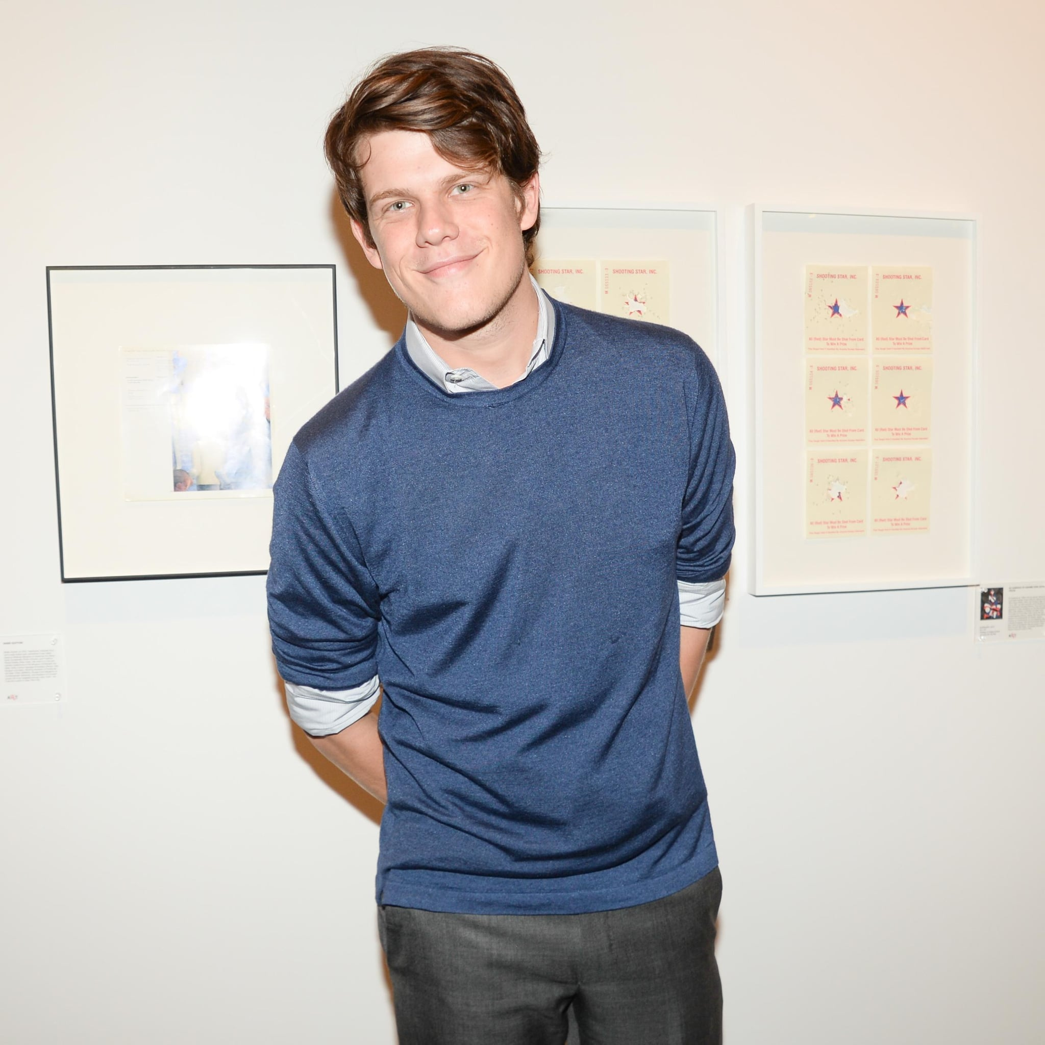 Wes Gordon arrived for the Annual RxArt Party Honors in a layered autumnal ensemble.