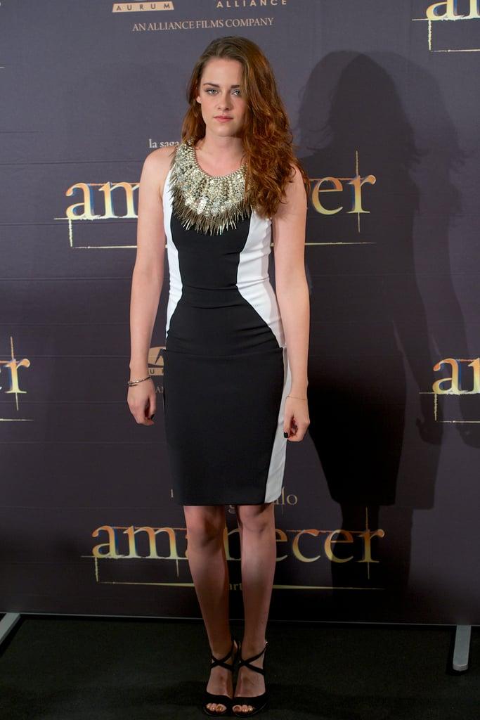 Kristen Stewart promoted Breaking Dawn —Part 2.