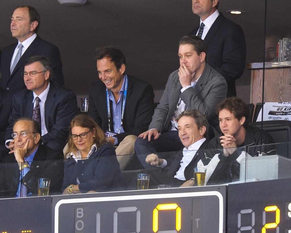 Martin Short and Will Arnett enjoyed the LA Kings Stanley Cup finals game together in LA.