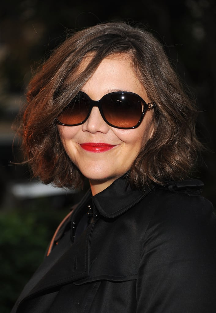 Maggie Gyllenhaal wore bright lips to Coach's Summer Party on the High Line in NYC.
