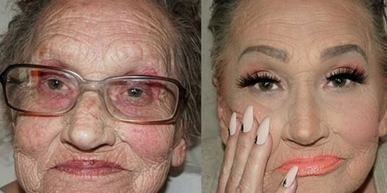 80-Year-Old Contouring Grandma Wins Internet With Glam Makeup
