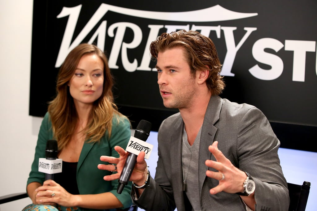 Olivia Wilde and Chris Hemsworth linked up to discuss their film Rush at the Variety Studio.