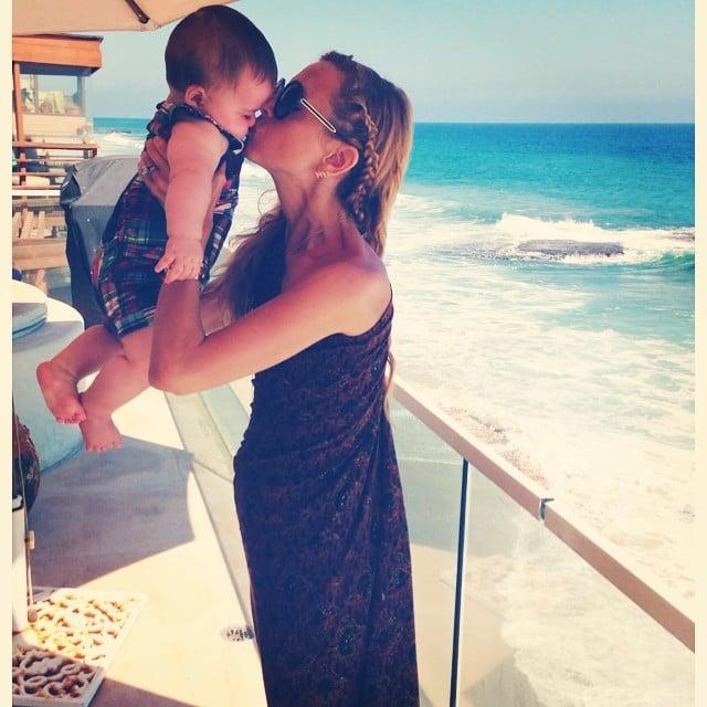 Rachel Zoe grabbed a seaside smooch from her little boy Kaius while vacationing in the Hamptons. Source: Instagram user rachelzoe