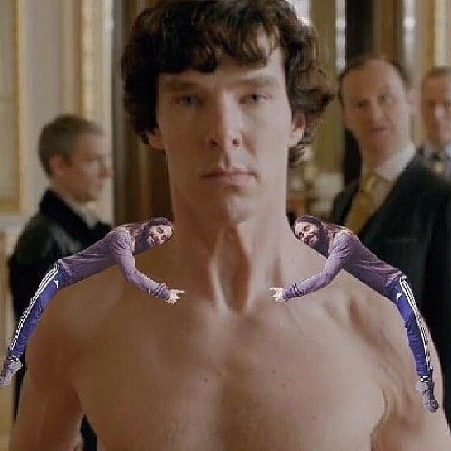 Jared Hugging Benedict Cumberbatch