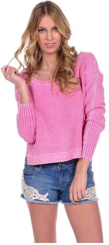 Vintage Havana Hi-Lo Off The Shoulder Sweater