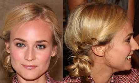Diane Kruger's Hair at Tommy Hilfiger 2009 Spring Fashion Week