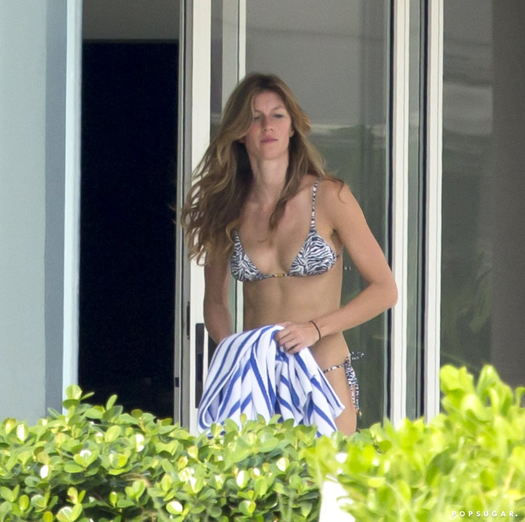 Gisele Bündchen relaxed by the beach in Miami.