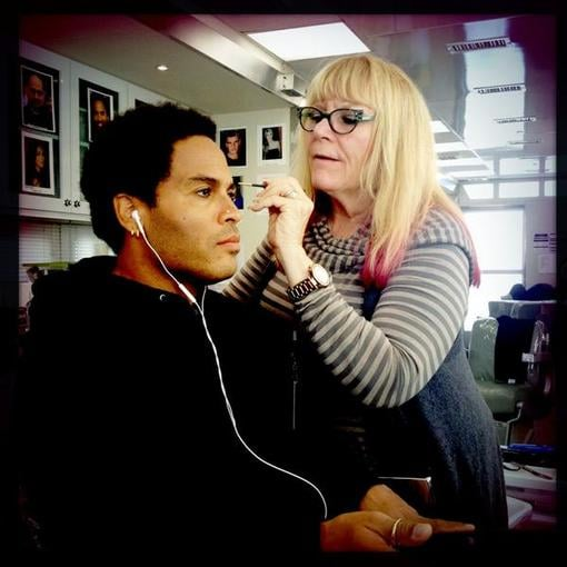 Lenny Kravitz tested out new makeup looks for his Catching Fire character, Cinna. Source: Twitter user LennyKravitz